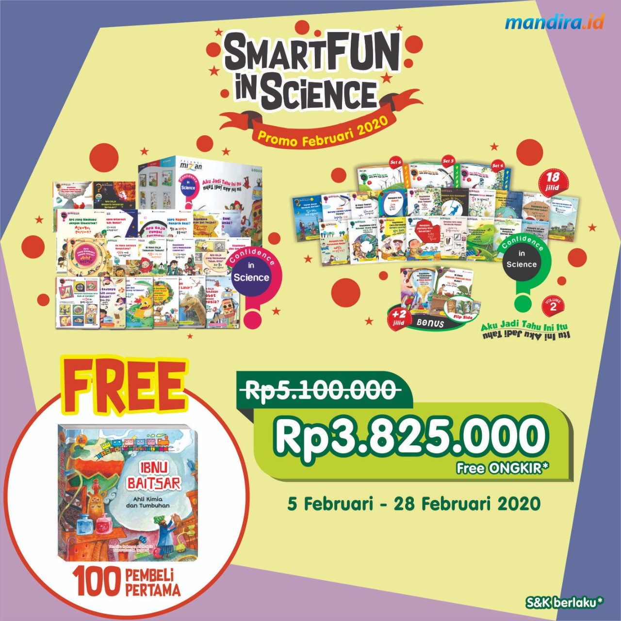 CIS 1 + CIS 2 SMARTFUN FEB 20 (FREE SCIENCE BOOK)