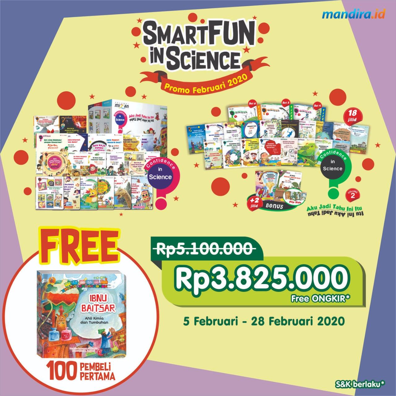CIS 1 + CIS 2 SMARTFUN FEB 20 (FREE SCIENCE BOOK)